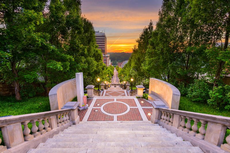 Lynchburg at Monument Terrace royalty free stock photos