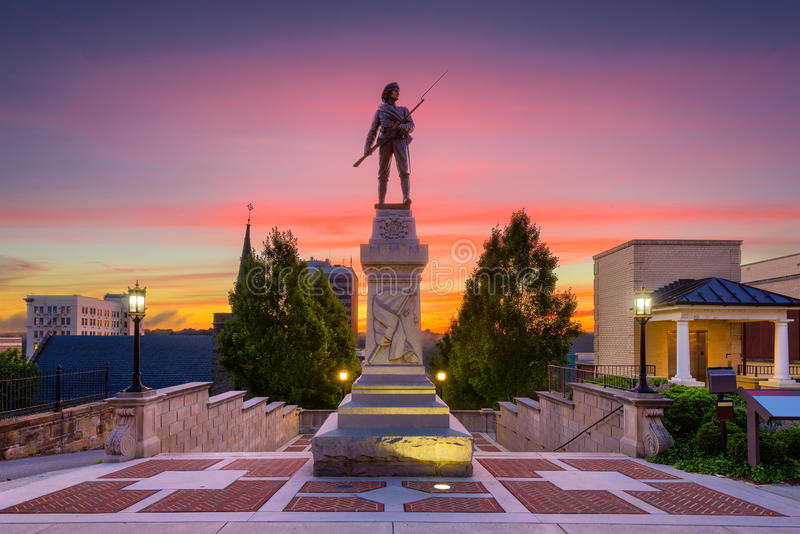 Lynchburg, Virginia Monument Terrace stock foto's