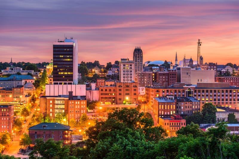 Lynchburg Virginia, USA horisont arkivfoto