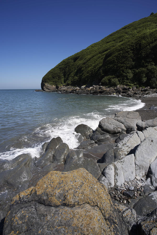 Lynmouth. Lee abbey cove lynton in the english county of devon stock images