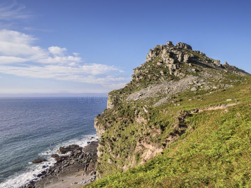 Lynmouth Devon Valley de las rocas imagen de archivo libre de regalías