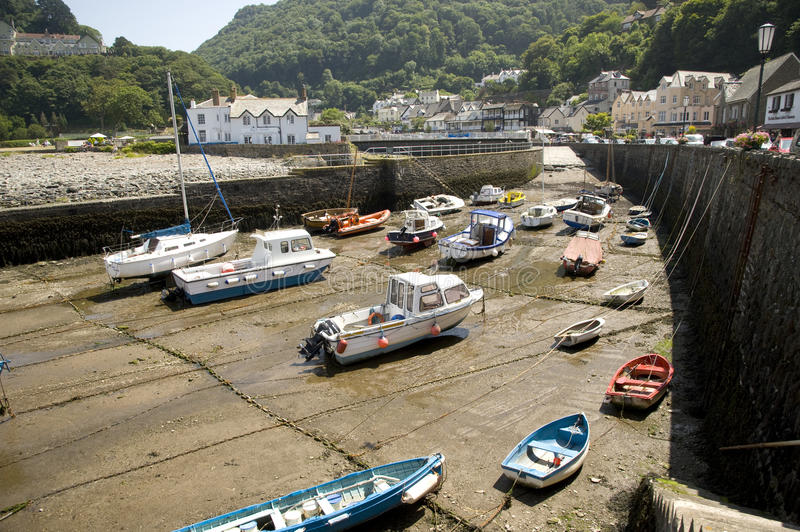 Download Lynmouth harbour, England editorial photo. Image of england - 32318956