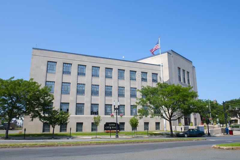 Lynn市政厅, Lynn,美国马萨诸塞州 免版税库存照片