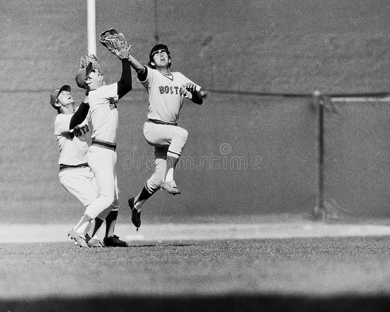 Lynn, Yaz και Burleson οι εκλεκτής ποιότητας Boston Red Sox στοκ εικόνα με δικαίωμα ελεύθερης χρήσης