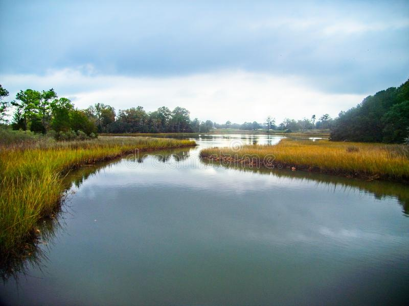 Lynnhaven Inlet Home of the Brock Environmental Foundation in Virginia Beach Virginia. The Lynnhaven Inlet is a tidal estuary located in the independent city of stock photography