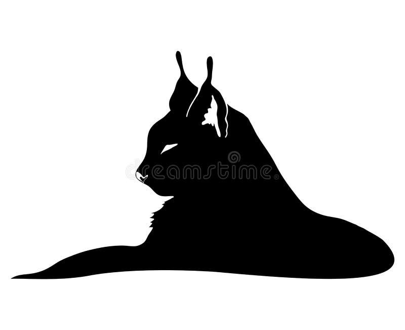 Lynx ha isolato su bianco royalty illustrazione gratis