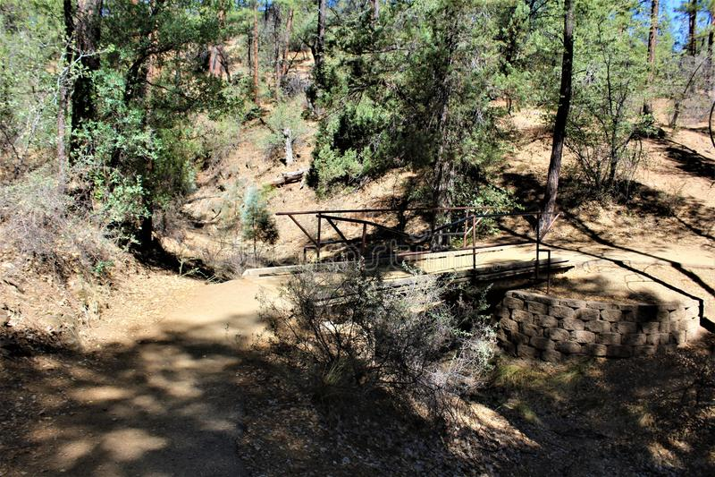 Lynx See, Bradshaw-Revier, Prescott National Forest, Staat Arizona, Vereinigte Staaten stockbild