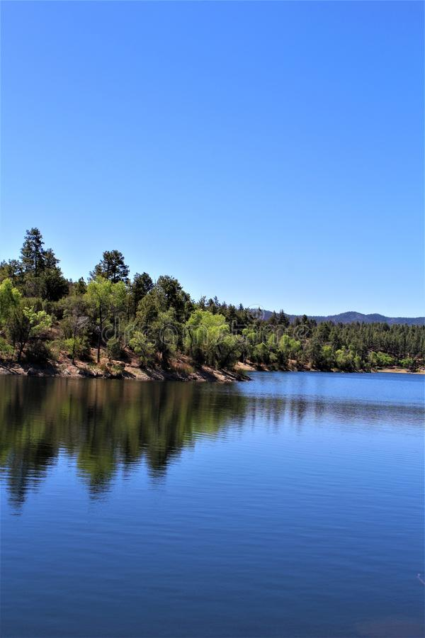 Lynx See, Bradshaw-Revier, Prescott National Forest, Staat Arizona, Vereinigte Staaten lizenzfreies stockfoto