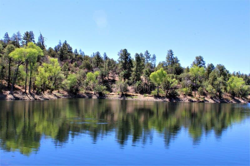 Lynx See, Bradshaw-Revier, Prescott National Forest, Staat Arizona, Vereinigte Staaten lizenzfreies stockbild