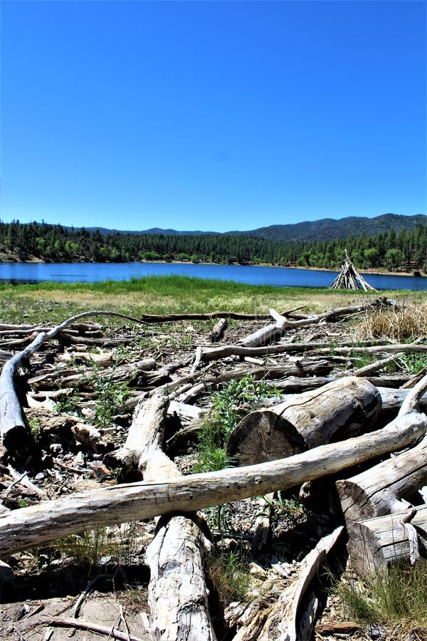 Lynx See, Bradshaw-Revier, Prescott National Forest, Staat Arizona, Vereinigte Staaten stockfotos