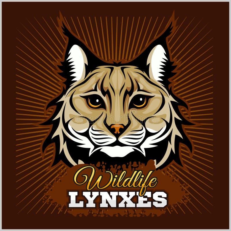 Lynxen - vectorembleem royalty-vrije illustratie