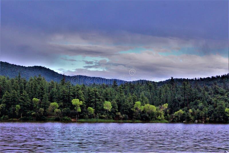 Lynxmeer, Bradshaw-Boswachtersdistrict, Prescott National Forest, Staat van Arizona, Verenigde Staten stock foto's