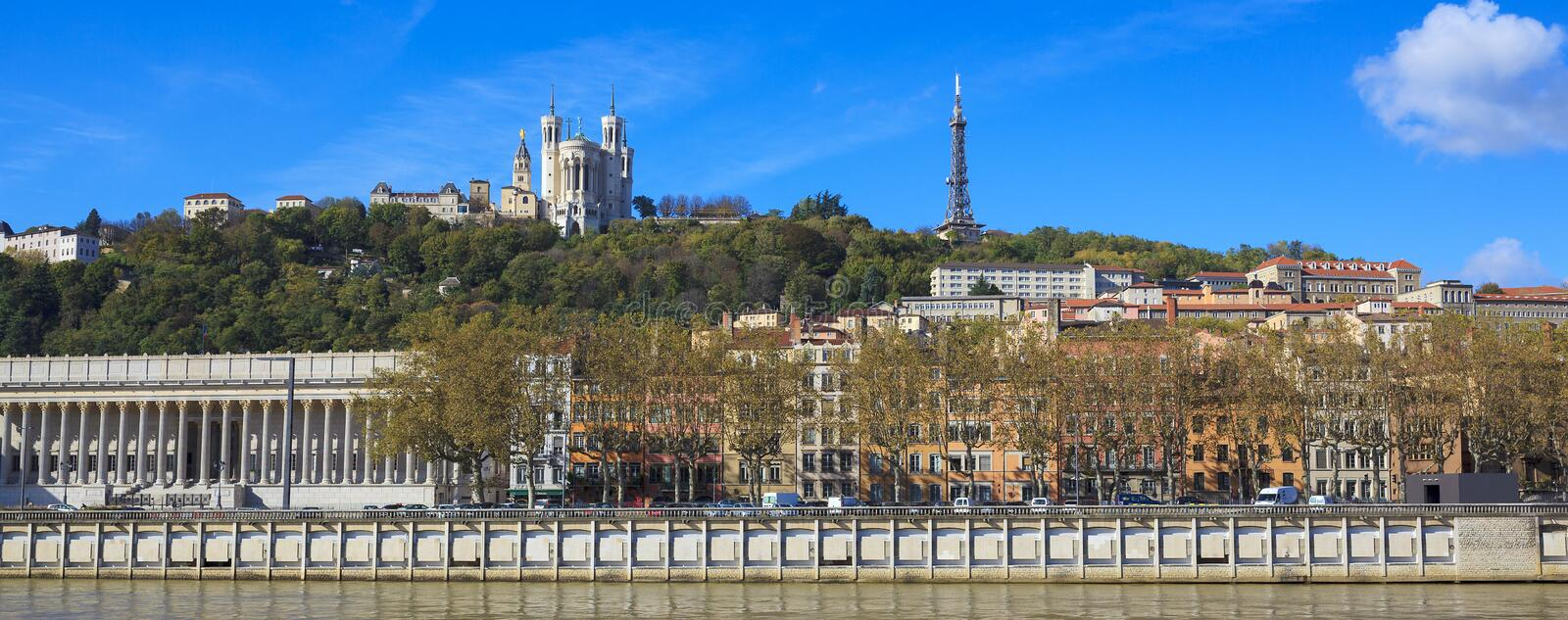 Download Lyon With Basilica And Courthouse Stock Image - Image: 34931881