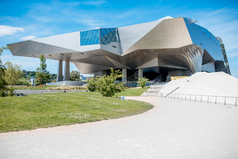 Lyon city in France. LYON, FRANCE - May 21, 2017: Musee des Confluences is a science and anthropology museum which opened on 20 December 2014 at the confluence stock photos