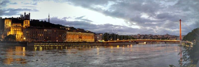 Lyon city stock photography