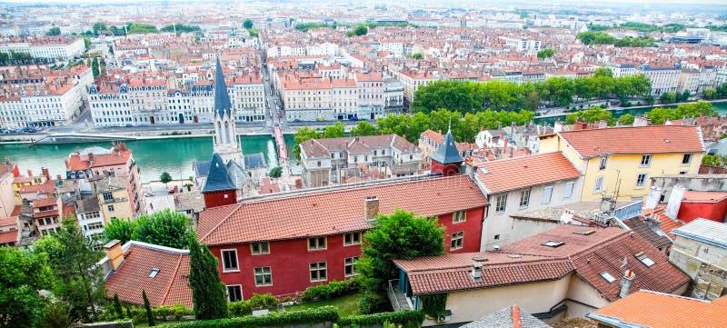 Lyon, dessus de toit photographie stock libre de droits