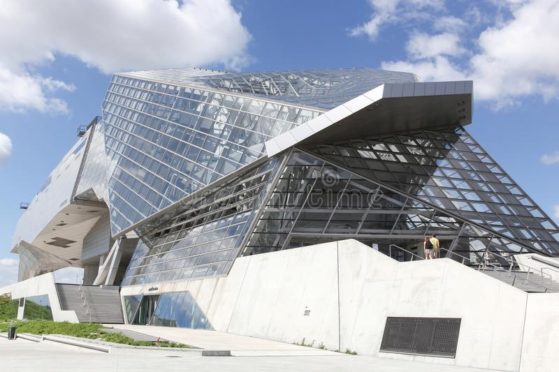 The Musee des Confluences in Lyon, France stock images