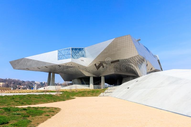 Musee des Confluences just inaugurated. LYON, FRANCE, MARCH 15, 2016 : Musee des Confluences just inaugurated. Musee des Confluences is located at the confluence stock image
