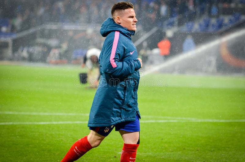 LYON, FRANCE - 16 May, 2018: Kevin Gameiro during the final UEFA Europa League match between Atletico Madrid vs Olympic royalty free stock photography