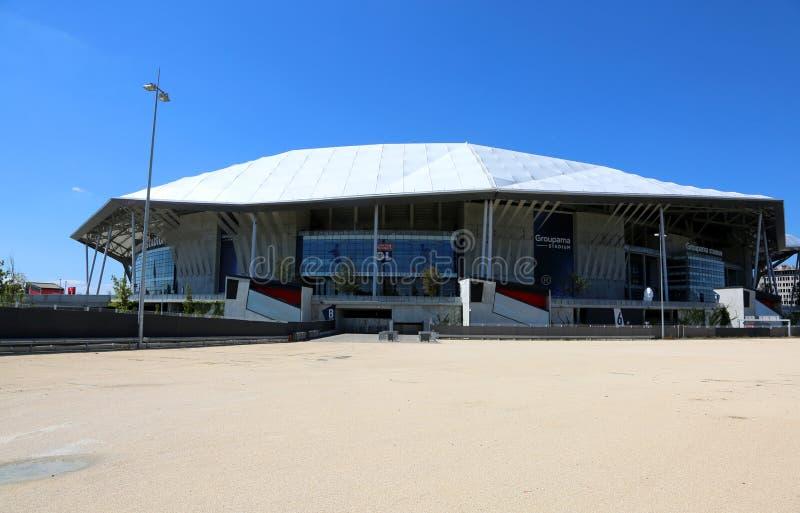 Lyon, Francia - 15 de agosto de 2018: Estadio principal imagen de archivo libre de regalías
