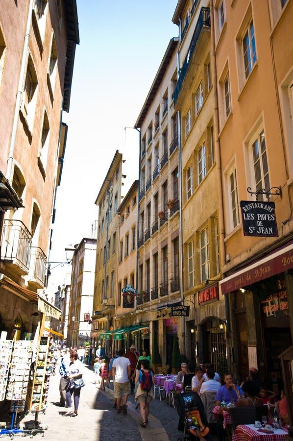 Lyon Frankreich, Neu-Delhi Geschäft lizenzfreie stockfotos