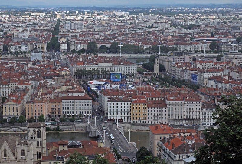 Lyon-Hauptplatz stockfoto