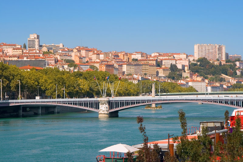 Lyon. La France photos stock
