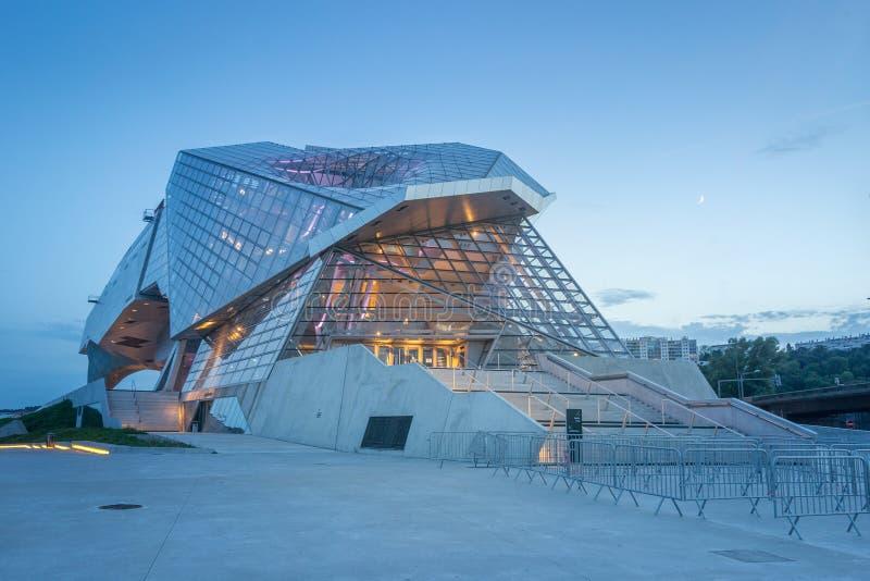 Lyon Musee des-sammanflöden arkivfoton