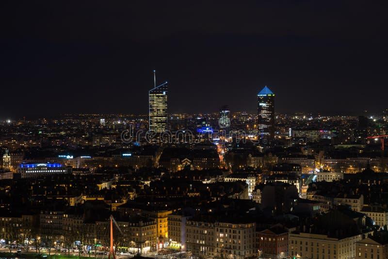 Lyon By Night stock image
