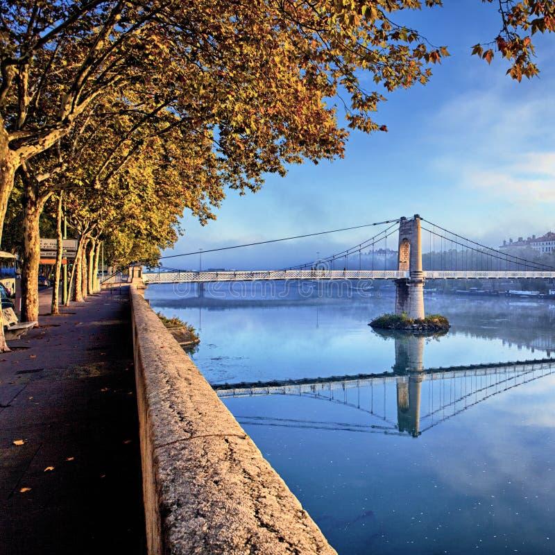 Download Lyon no outono foto de stock. Imagem de manhã, alavanca - 26522742