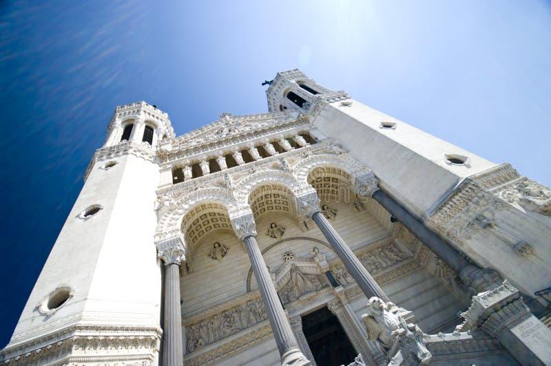 Lyon Notre Dame stockfotografie