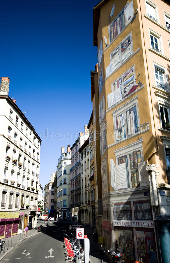 Download Lyon painted house stock photo. Image of walls, painted - 11212028