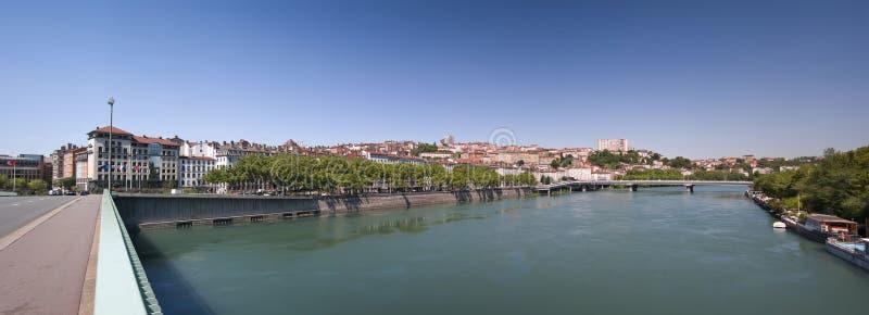 Lyon-Panorama stockbilder