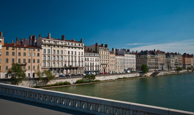 Lyon-Panorama stockfotografie