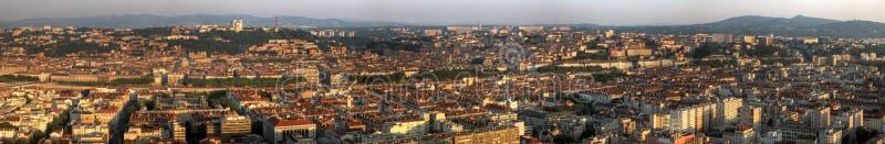 Lyon panoramic, France stock photo