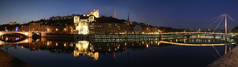 Download Lyon Skyline stock image. Image of fete, evening, event - 18339625