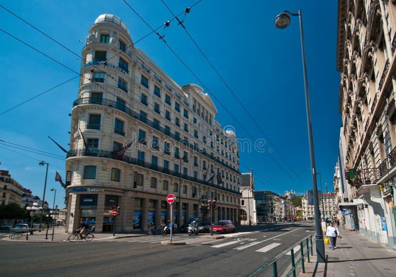 Lyon-Straßen stockfotografie