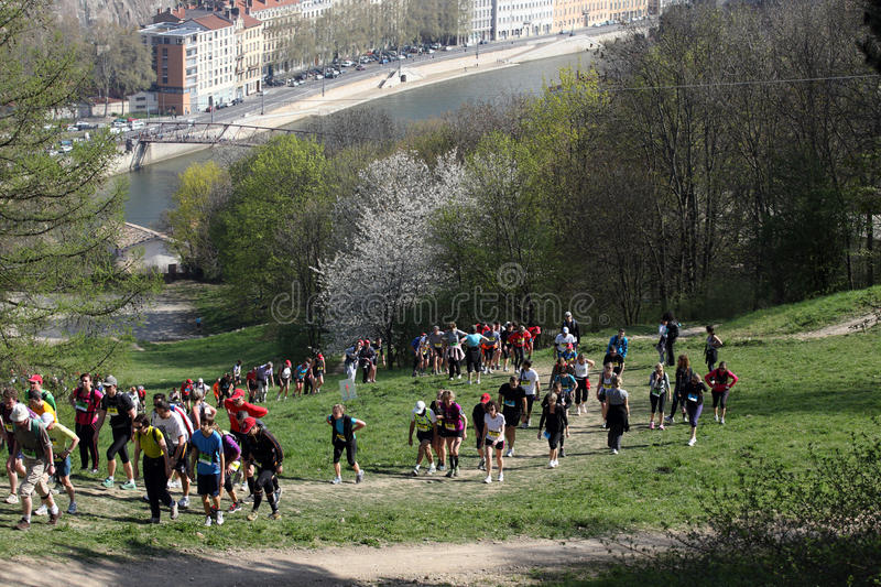 Download Lyon Urban Trail editorial photo. Image of runnng, trail - 24129031