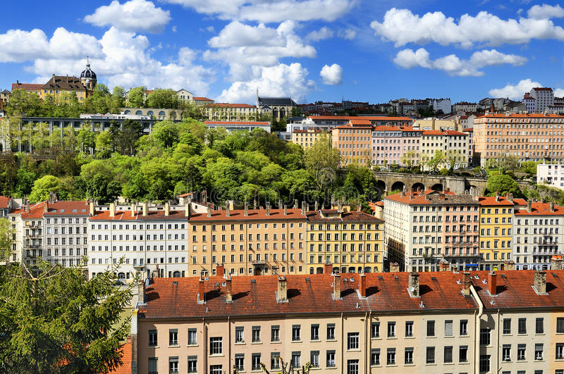 Download Lyon view, France stock photo. Image of blue, buildings - 24601988
