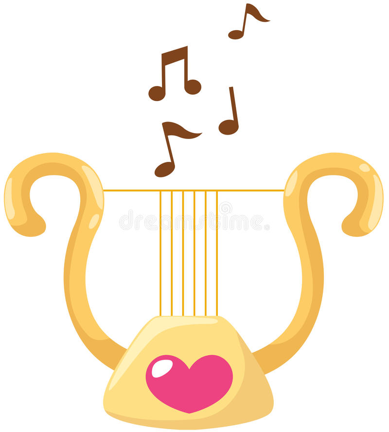 Download Lyre stock vector. Image of ornate, gold, orchestra, lira - 25530455