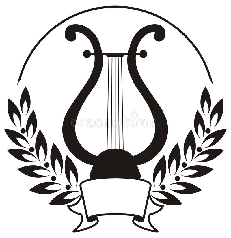 Free Lyre, Framed By A Laurel Wreath. Stock Photo - 14069710