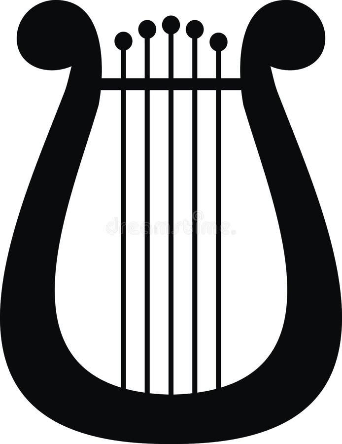 Lyre - symbole de la musique et des arts illustration libre de droits