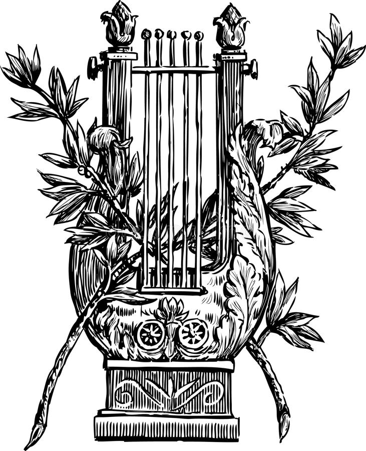 Free Lyre With A Branches Royalty Free Stock Image - 31808526