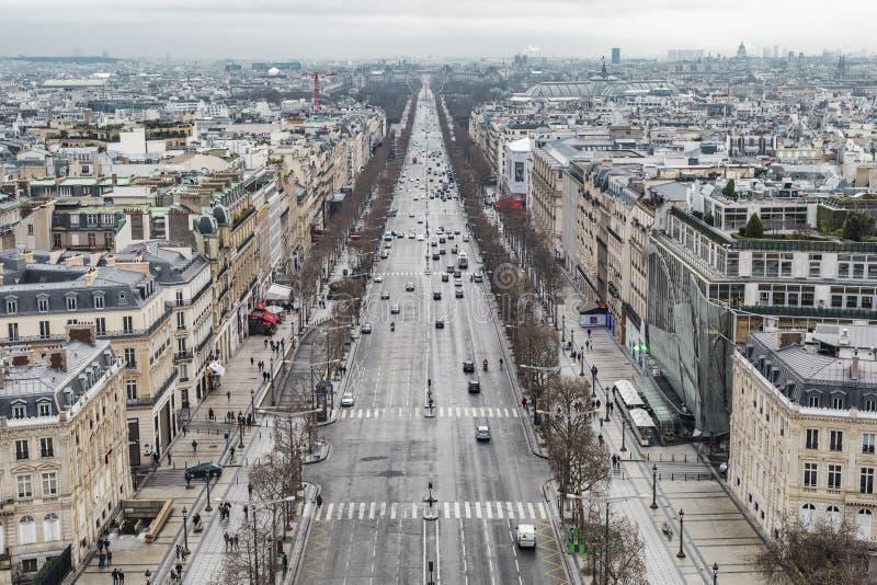 Lysées ‰ чемпионов-à des бульвара в Париже стоковая фотография