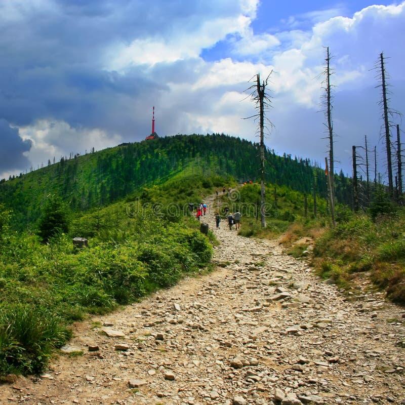 Lysa hora. Last steps - Lysa hora summit royalty free stock photo