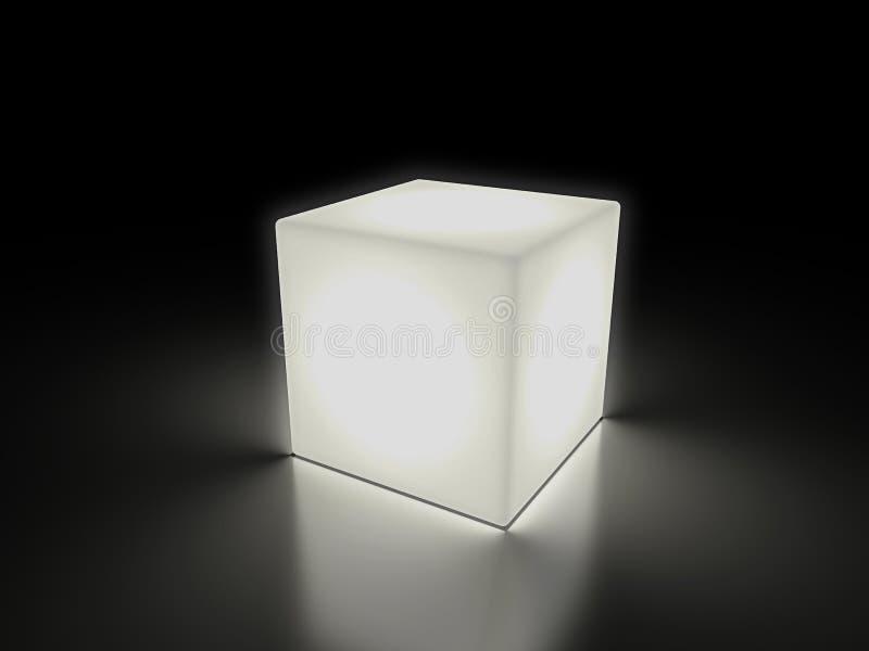 Lysande kub stock illustrationer