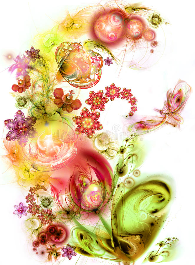 lysande saga för felik blomma vektor illustrationer