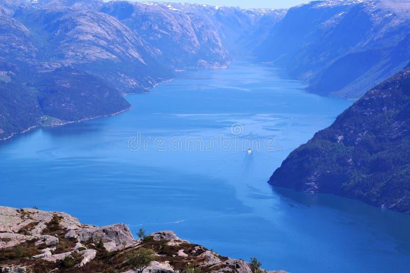 lysefjord стоковое фото