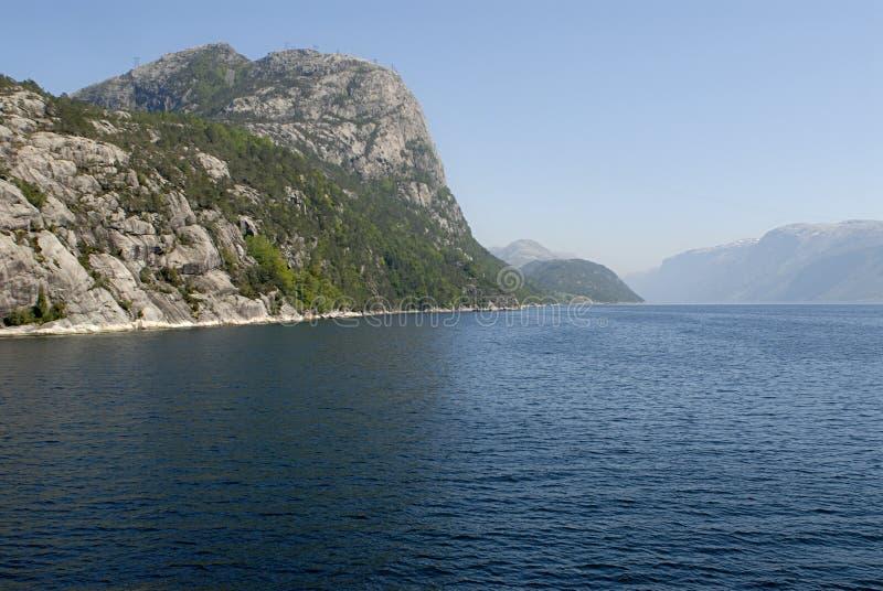 lysefjord стоковое изображение rf