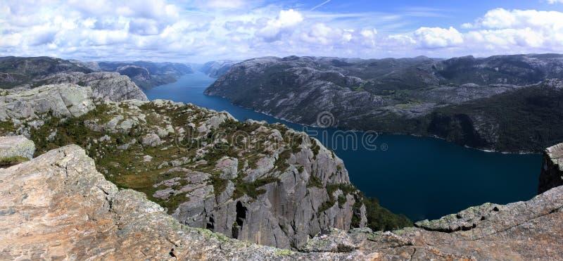 Lysefjord photo libre de droits